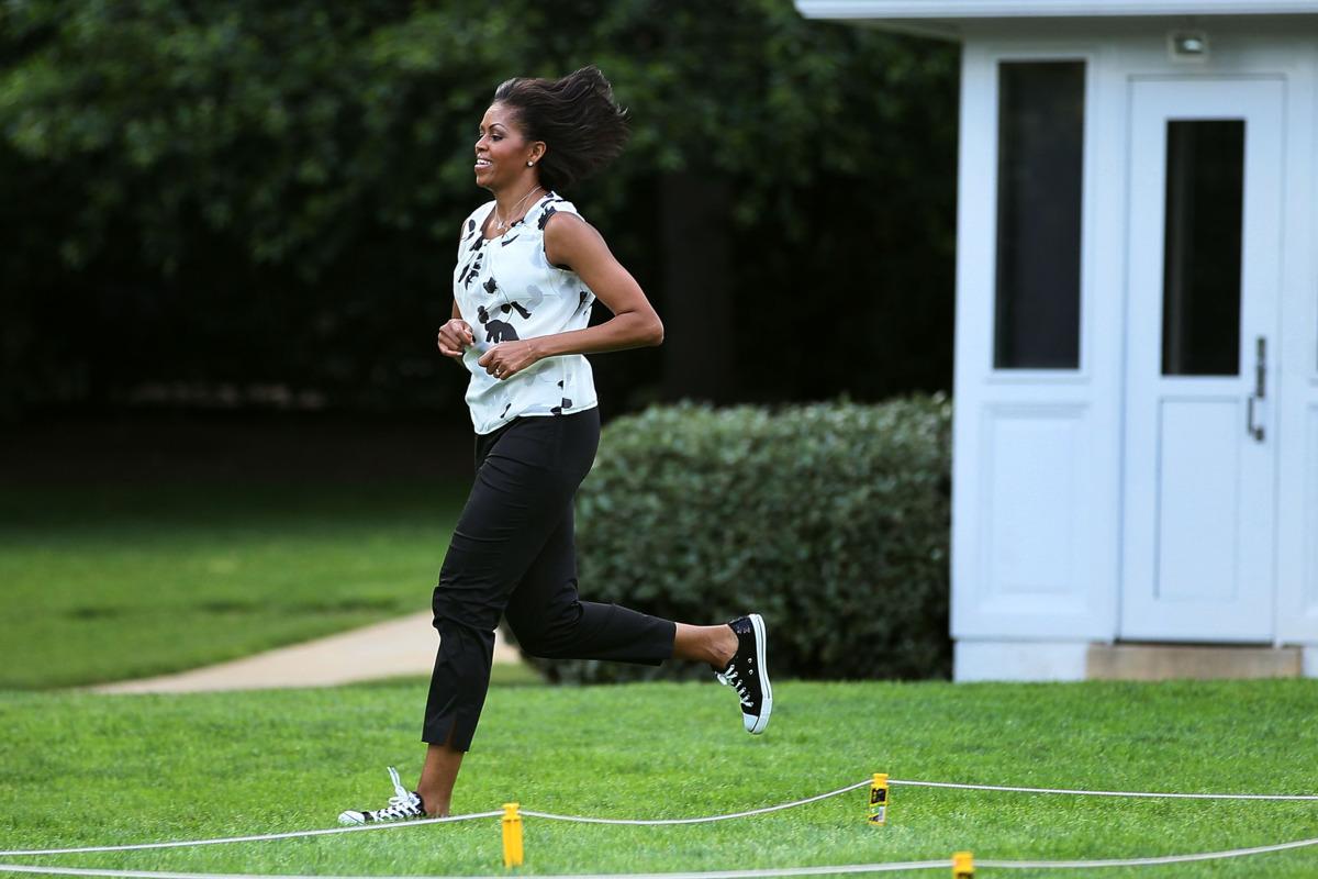 Michelle Obama sporty chic
