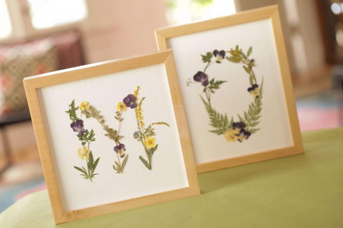 Quadri con fiori secchi: idee fai da te per bambini [FOTO]