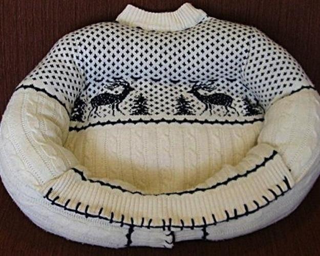 cuccia gatto maglione vecchio