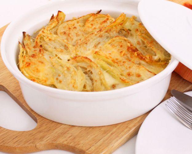 Finocchi e patate al gratin, ricetta light