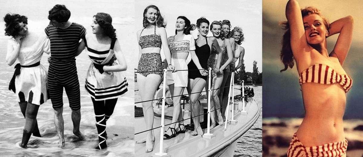L'evoluzione dei costumi da bagno negli ultimi 100 anni [FOTO]