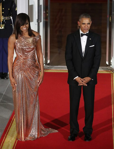 Michelle Obama Versace