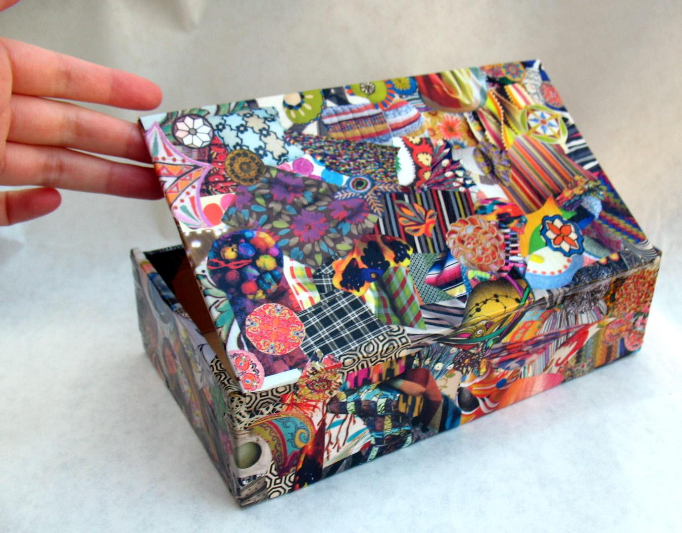 scatola con decoupage