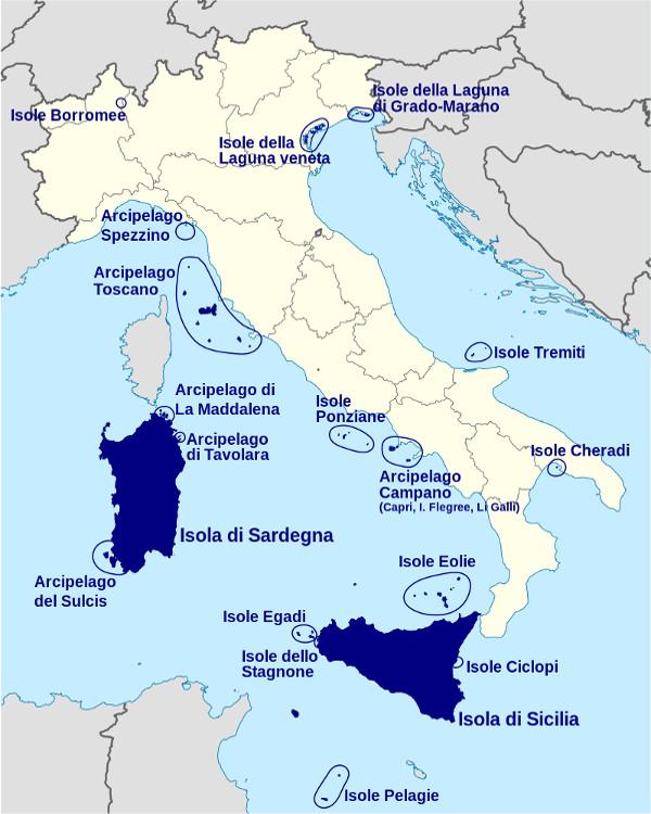 Cartina Isole Italia