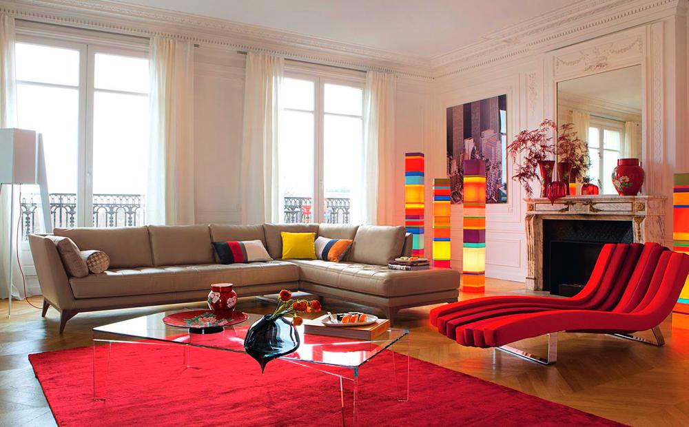 colourful accent interiors