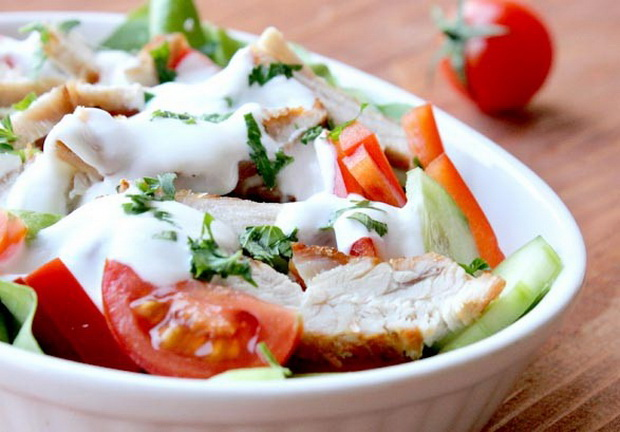 Insalata di pollo, ricetta light