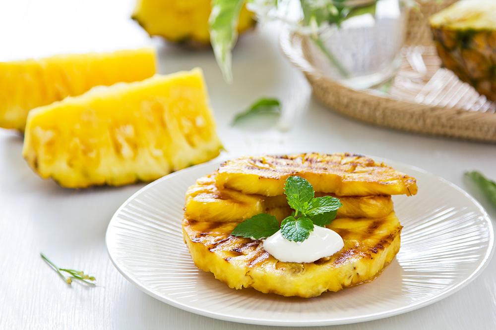 Ananas alla griglia, ricetta light