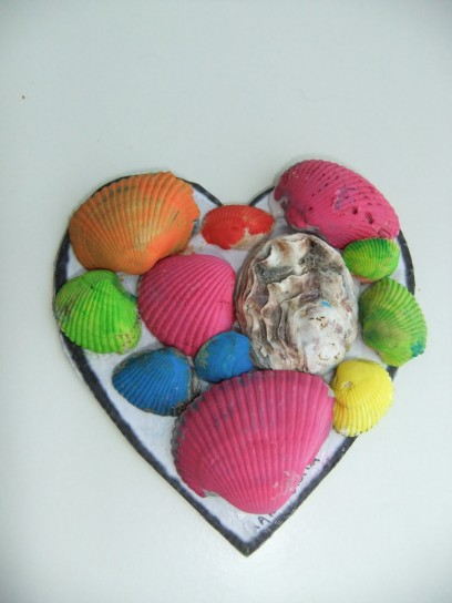 cuore di conchiglie