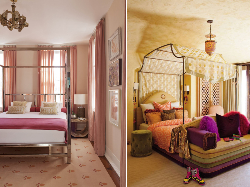 Camera da letto romanticab