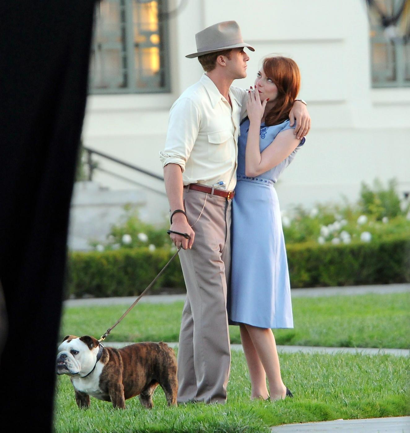 """Ryan Gosling e Emma Stone girano una scena romantica di """"Gangster squad"""""""