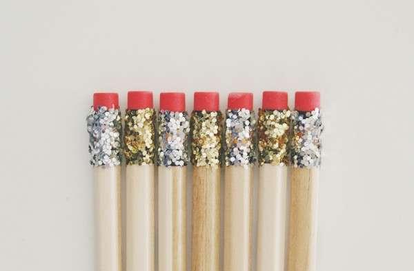 Matite decorate con i glitter