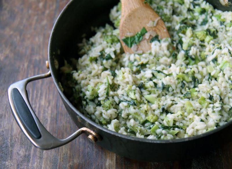 Risotto al limone e spinaci, ricetta light