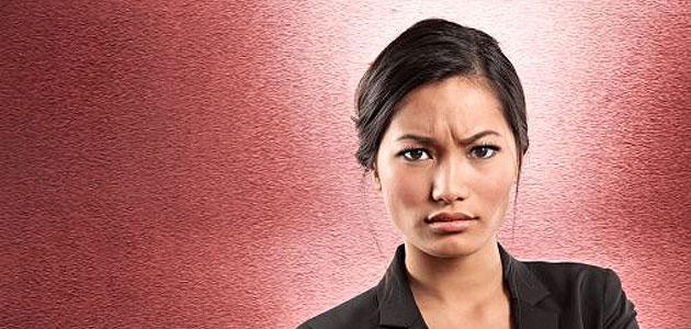 Donna che si arrabbia