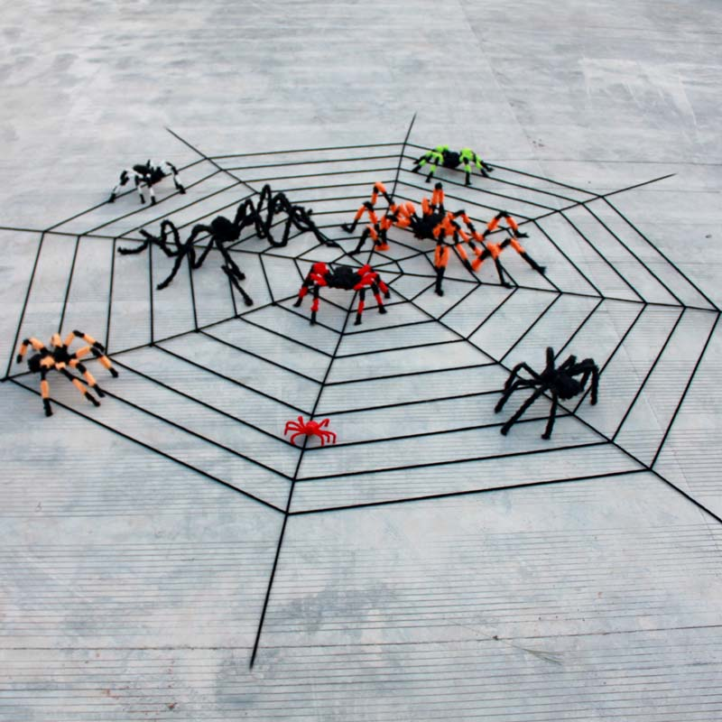 Halloween large font b Spider b font font b web b font Helloween party decoration supplies