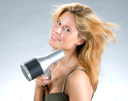 asciugare i capelli all'aria