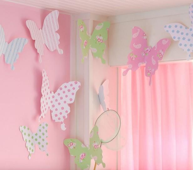 decorazioni pareti le farfalle