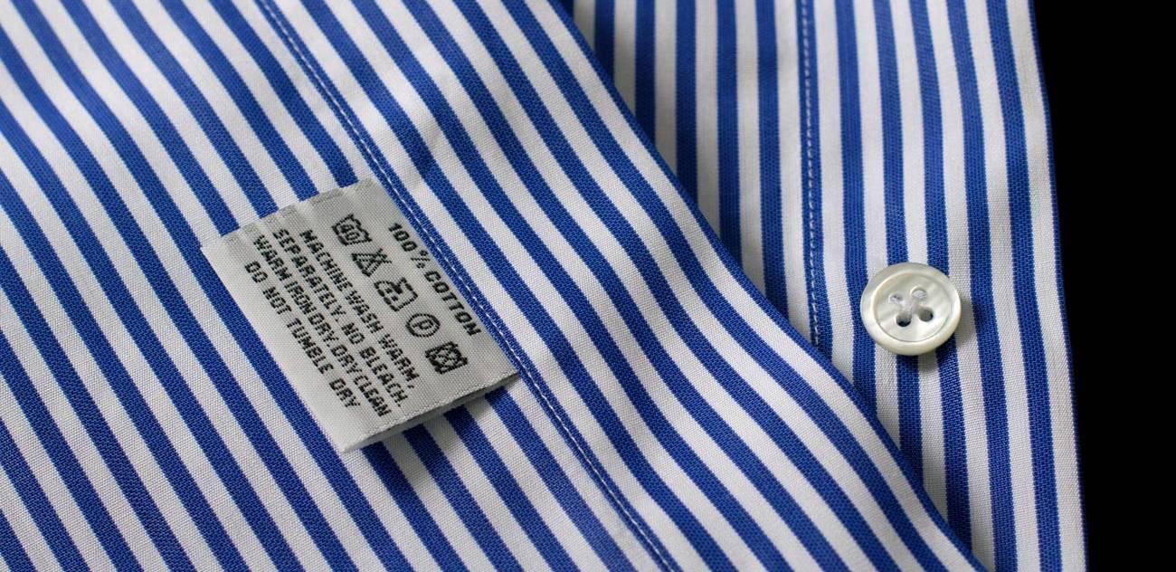 etiquette chemise homme bleue c3a0 rayures haute couture cafc3a9 coton