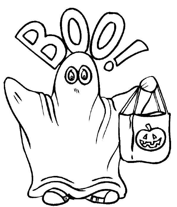 Fantasmi di halloween disegni da ritagliare e appendere Disegni halloween da colorare gratis