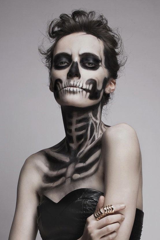 halloween makeup da donna zombie 0X17