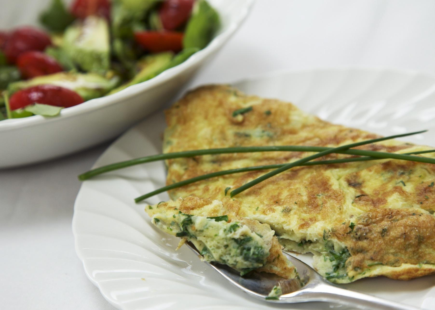 Omelette alle erbe, ricetta light