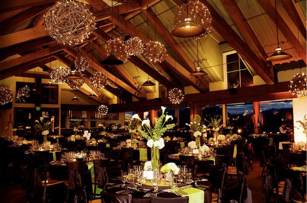 Luminarie per un matrimonio serale