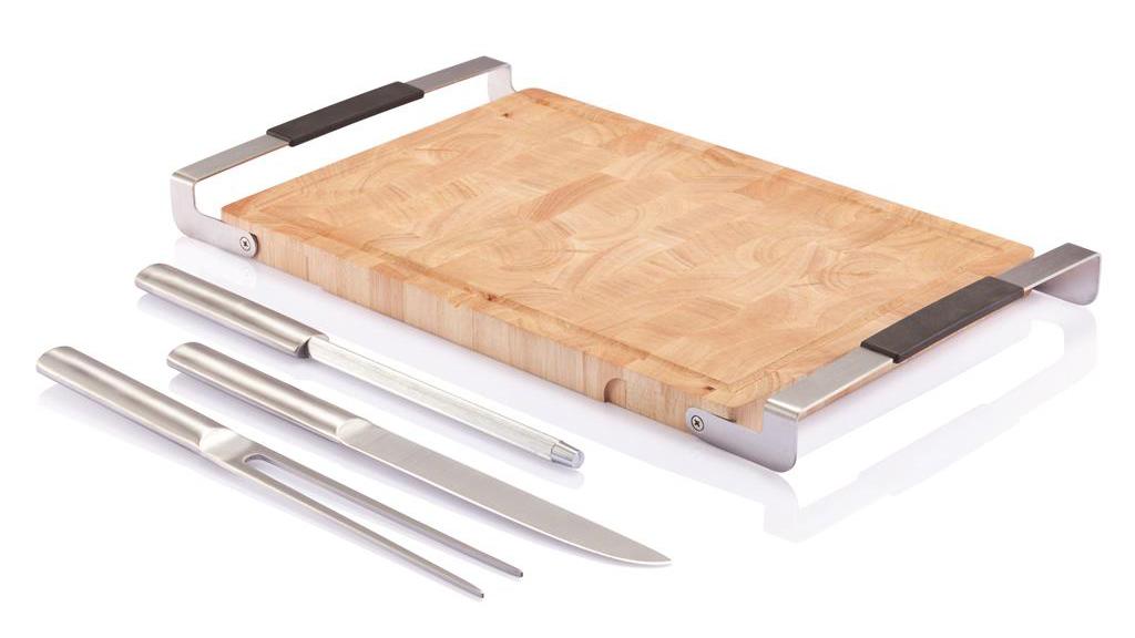 XD DESIGN BLOK set posate con tagliere in legno