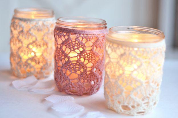 candele fai da te natale