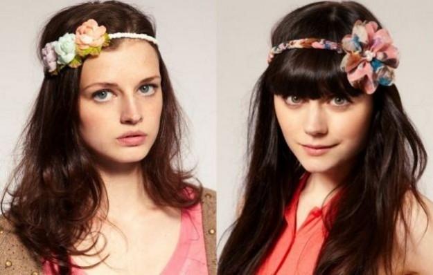 fasce con i fiori per i capelli