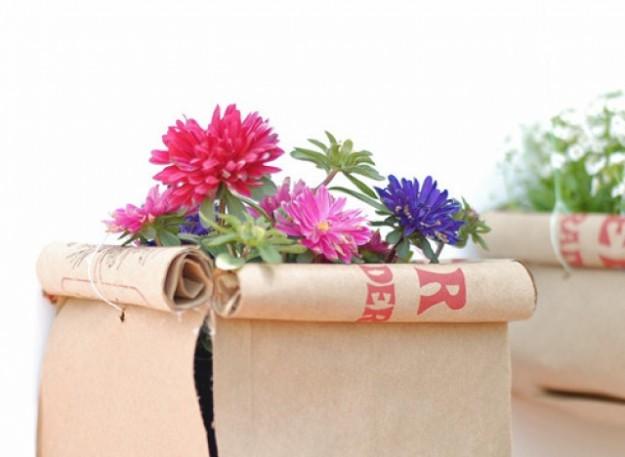 vaso nei sacchetti di carta