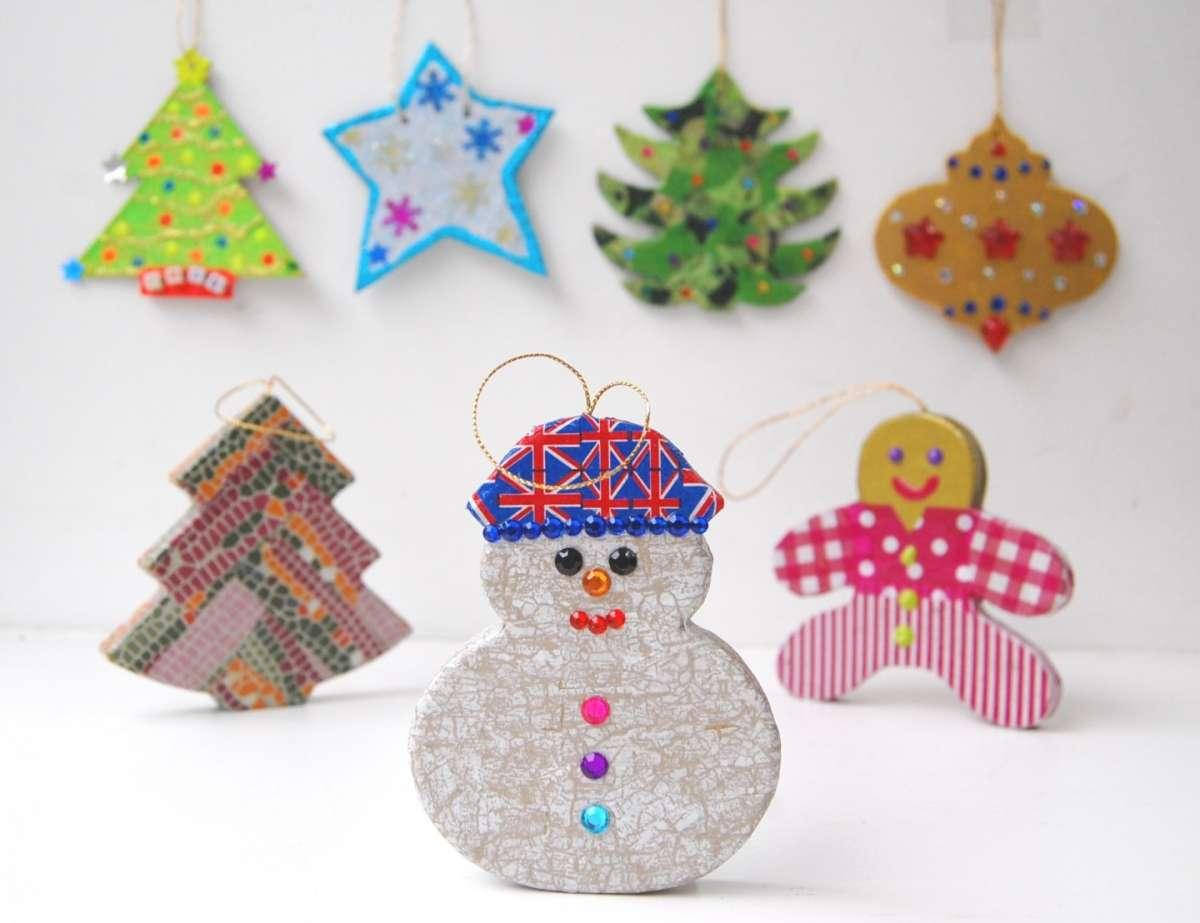 Lavoretti Di Natale Scuola Primaria Decoupage.Lavoretti Di Natale Con Decoupage Tante Idee Per I Bambini
