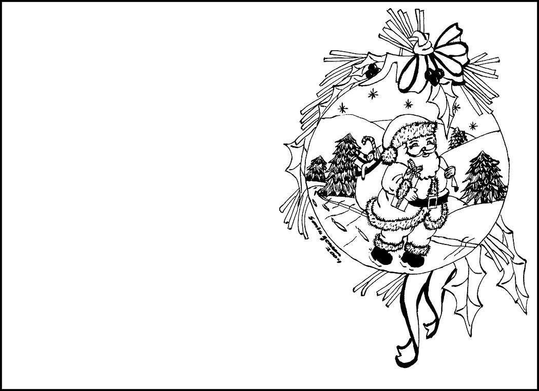 Biglietti di natale per bambini da colorare foto pourfemme - Immagini a colori di natale gratis ...