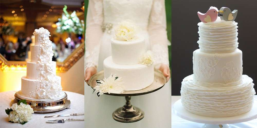 Torte nuziali bianche: eleganti e semplici per il matrimonio [FOTO]