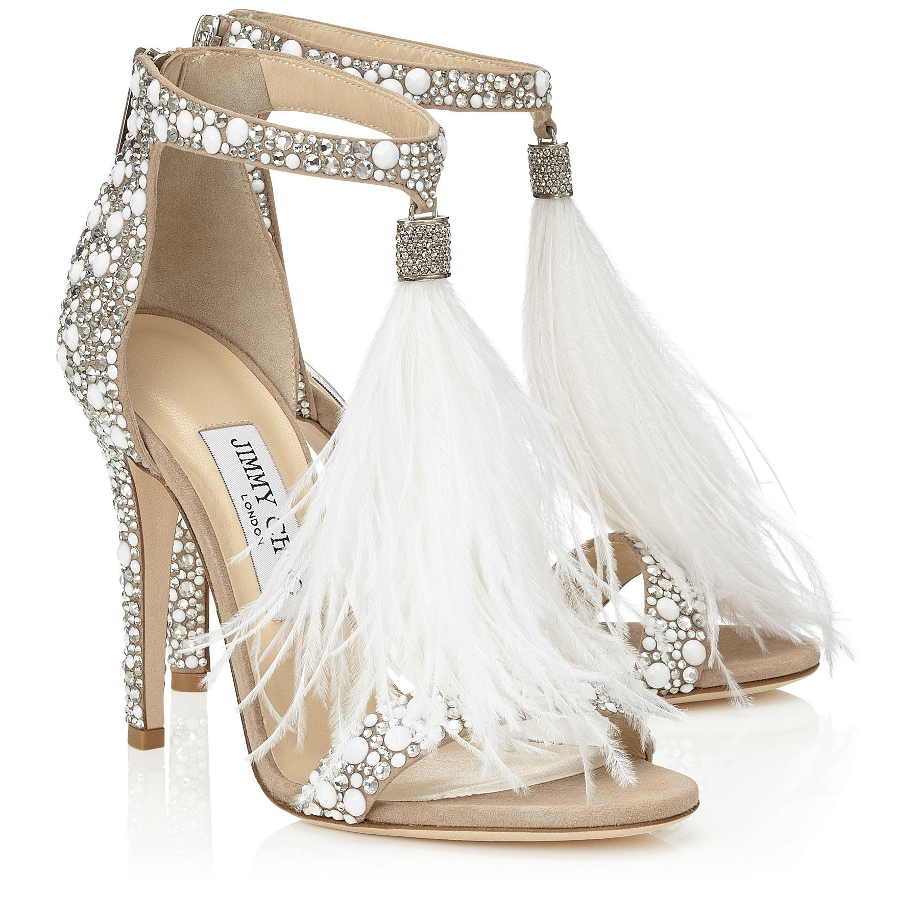 Sandali gioiello Jimmy Choo bianchi