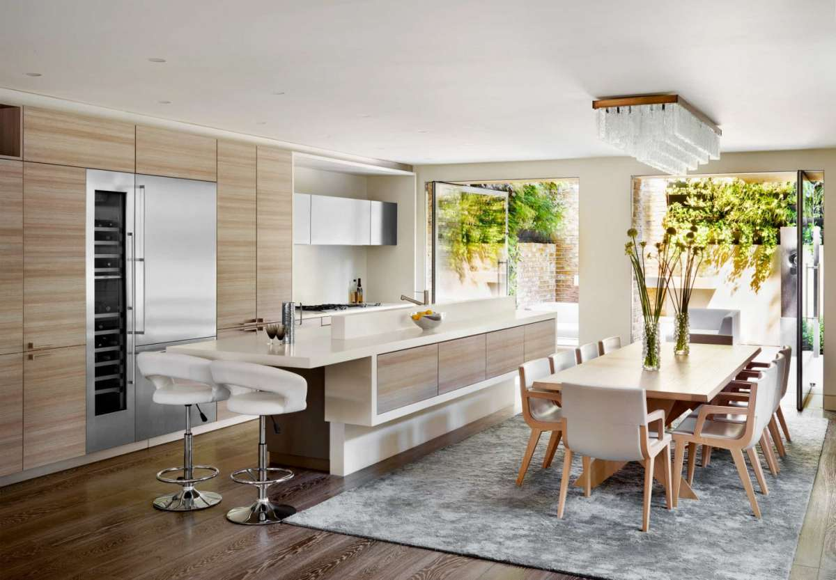 La zona living con la cucina open space