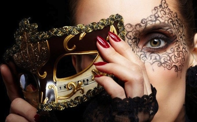 make up e maschera per carnevale