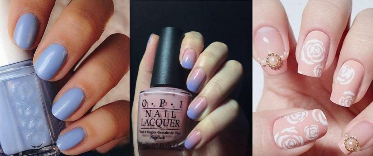 Tendenze unghie 2016: la manicure nei colori Pantone Rosa Quarzo e Azzurro Serenity [FOTO]
