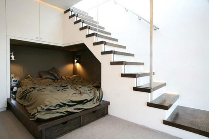 Una particolare camera da letto