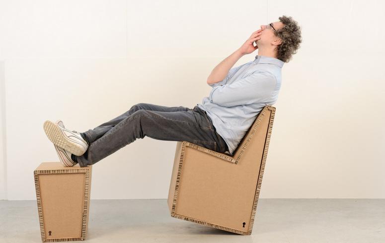 andrea bruga brugnera designer design cartone cardboard standup arredi ecologici sedia tavolo sgabello 006