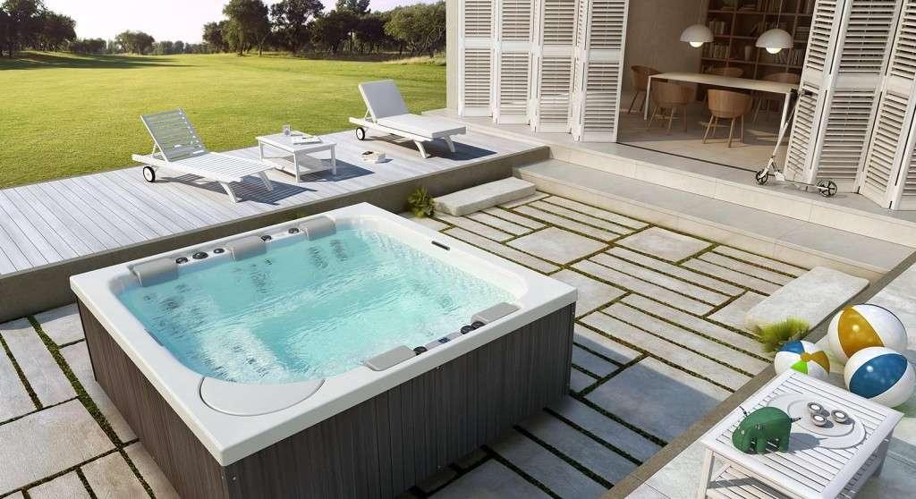 Minipiscine e vasche idromassaggio da esterno per avere for Vasche da giardino per tartarughe