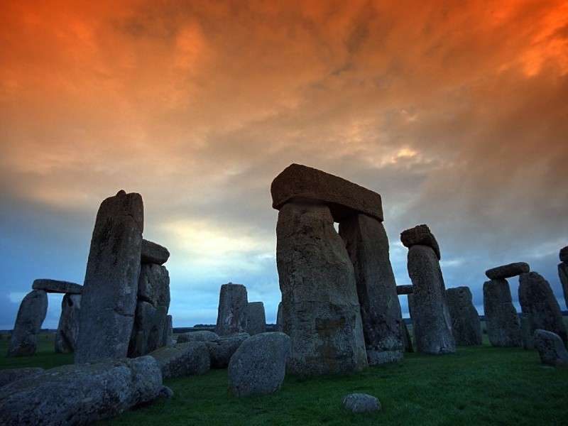 Stonehenge tramonto