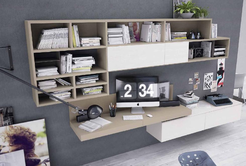 9 idee per uno studio in soggiorno | Pourfemme