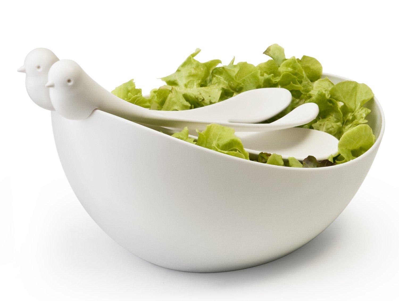 Bird Salad Bowls And Servers Set