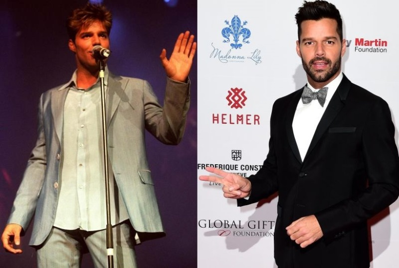 Ricky Martin ieri e oggi