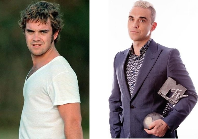 Robbie Williams ieri e oggi