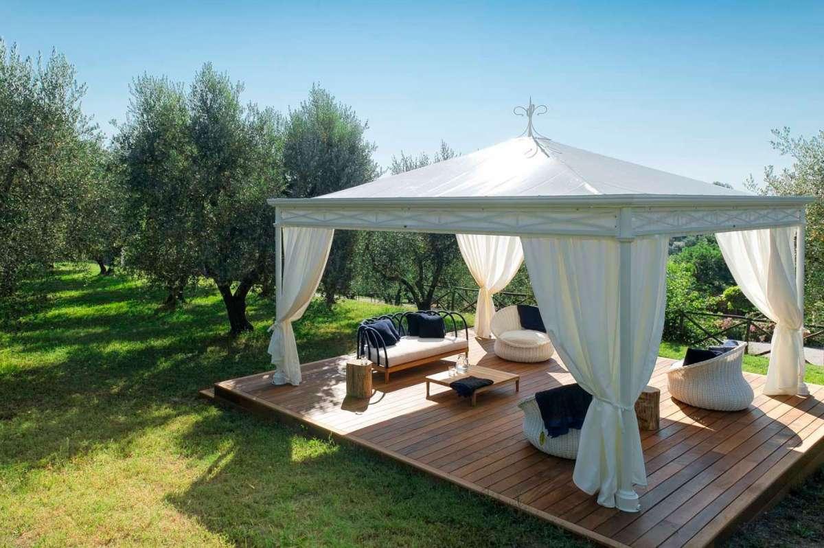 Gazebo Per Matrimonio In Giardino : Come arredare un gazebo con giardino foto pourfemme