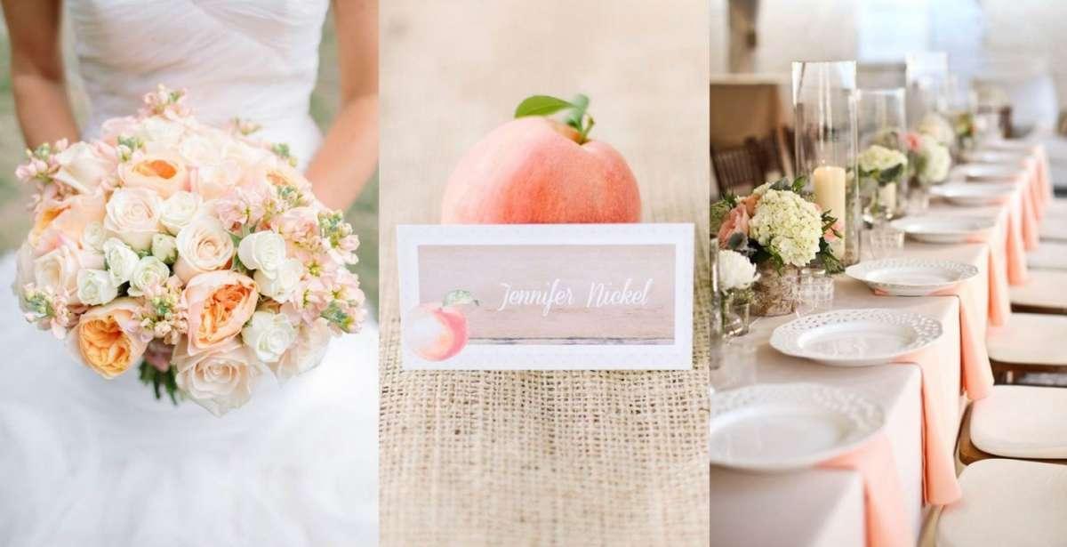 Decorazioni per il matrimonio color pesca le proposte pi - Decorazioni per matrimonio ...