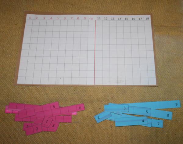 Le tavole per la matematica secondo il metodo Montessori