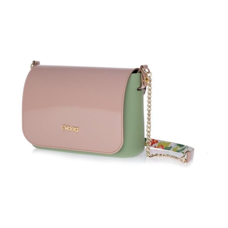 Mini bag O Bag Fullspot con manico fiorato