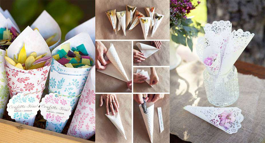 Coni porta riso per il matrimonio: idee fai da te e ispirazioni chic [FOTO]