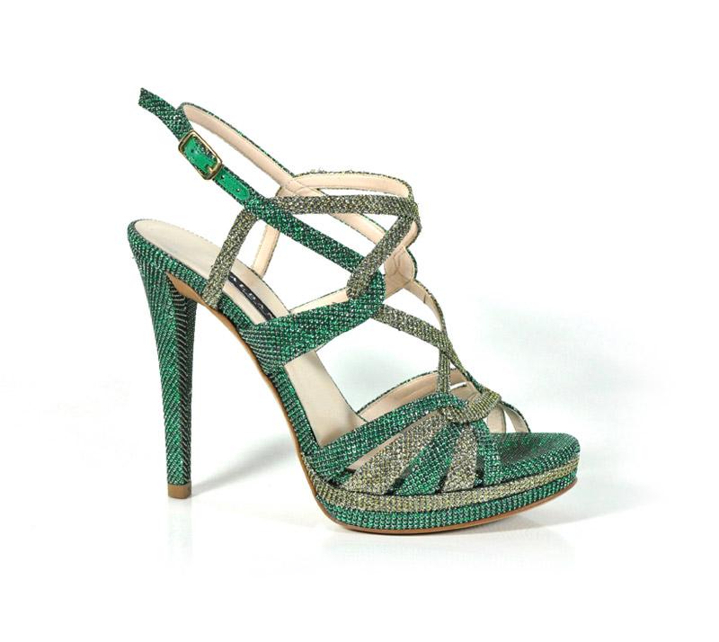sandalo verde argento